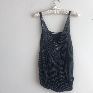 Sequin party top From Mango